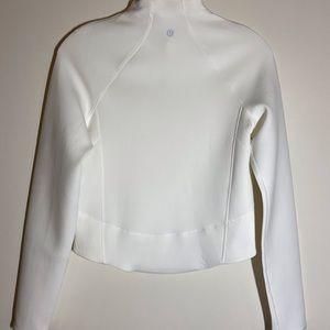 lululemon athletica Tops - Lululemon white crop pullover